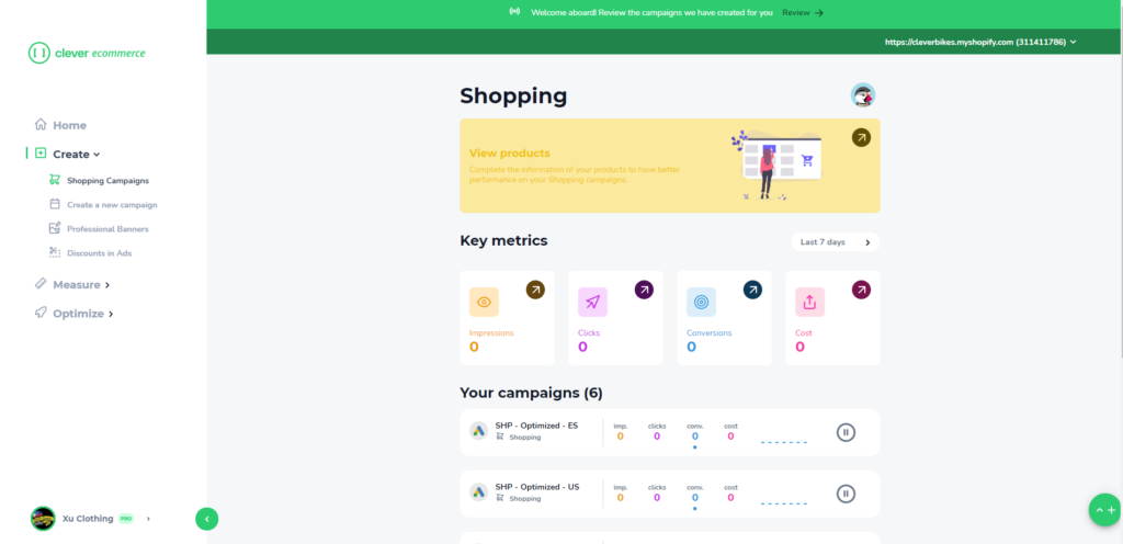 Clever eCommerce Dashboard #2