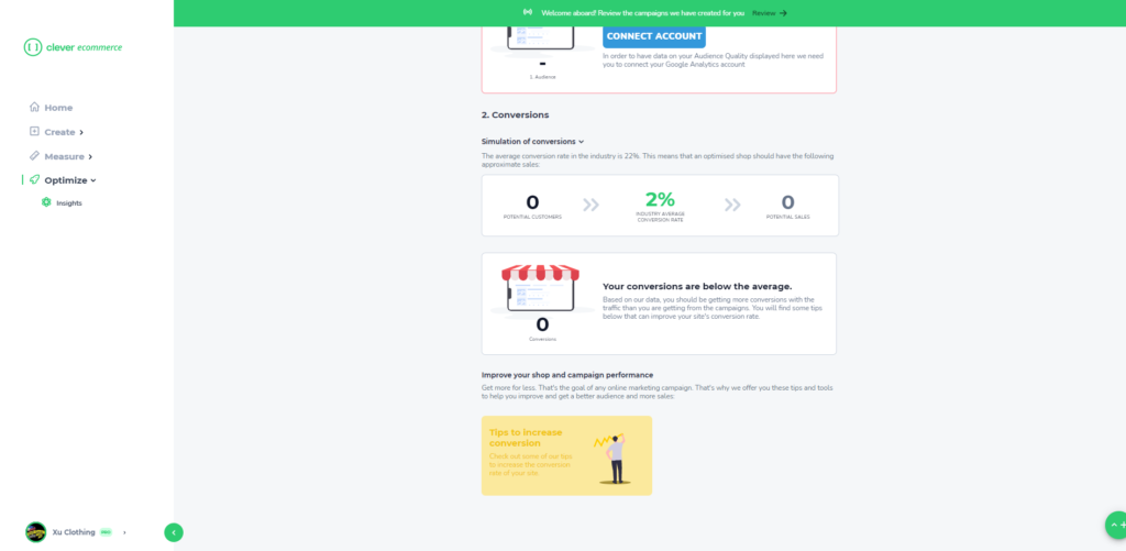 Clever eCommerce Dashboard #4