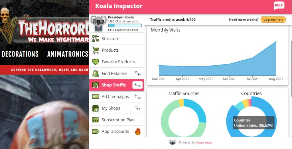 koala-inspector-shop traffic